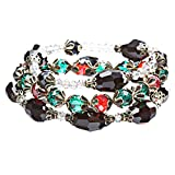 ACCESSORIESFOREVER Women Modern Fashion Crystal Rhinestone Vibrant Fun Wrap Stretch Bracelet B465 Multi