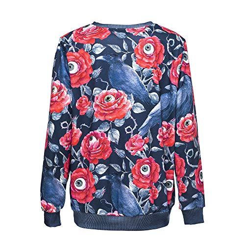Ulanda Fashion Women Halloween Hoodie Sweatshirt Party Long Sleeve Printed Pullover Blouse O-Neck Sweatshirt by Ulanda (Image #5)