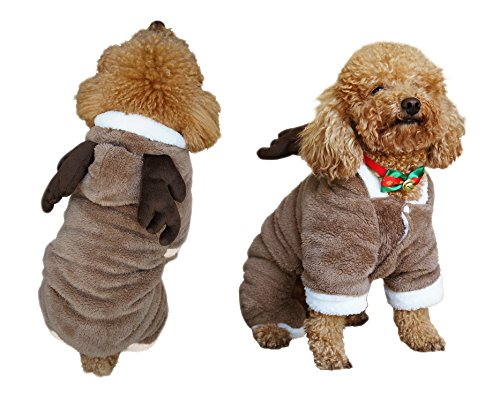 Sale! Another Me Cute Elf Pet Christmas Costume Santa Pet Apparel Deer Suit Cosplay Dog Cat Puppy Winter Outwear Warm Clothes Hoodies Coat