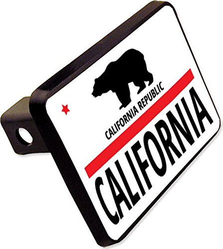 CALIFORNIA Flag Trailer Hitch Cover Plug Funny State Novelty -