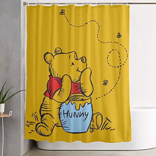 Meirdre Stylish Shower Curtain Winnie The Pooh Printing Waterproof Bathroom Curtain 60 X 72 Inches