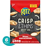 Ritz Crisp & Thins Original with Creamy Onion & Sea Salt Chips (Pack of 6)