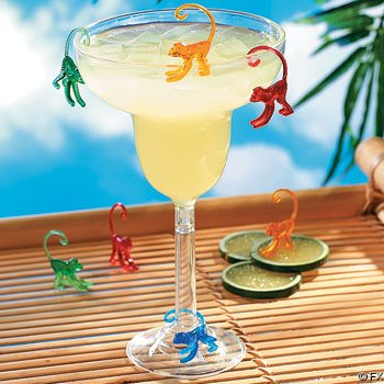 Plastic Coctail Drink Monkeys (72) ()