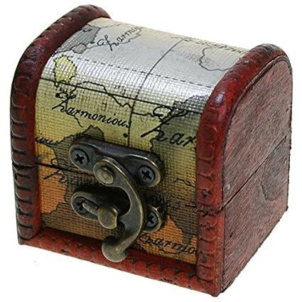 CHRISTIAN GAR Pack de 12 Estuches para Joyería - Mini-Baúles de Madera (6 x 5,5 x 5 cm) MN035