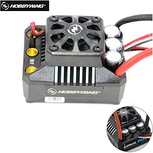 Hobbywing EzRun Max6 V3 160A Speed Controller Waterproof Brushless ESC XT60/T Plug for 1/6 1/7 RC Car (T (Cen Racing Rc Car)