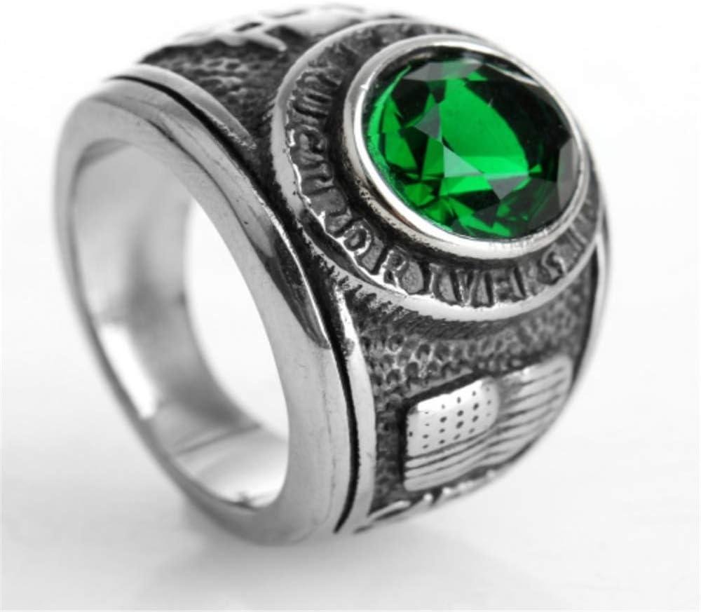 ZhongDa Anillo, Joyería de Acero Inoxidable, Diamantes De Los Hombres, Rojo, Verde, Azul, Negro, Piedras Preciosas De Acero De Titanio Anillo