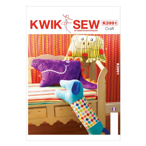 KWIK-SEW Dog and Stuffed Creature Pillows Sewing Pattern, - Fur Beaver Pieces