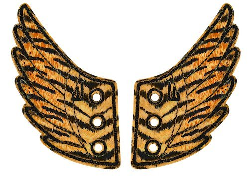 Shwings Safari Foil Lace In Wings For Shoes (Tiger) ()