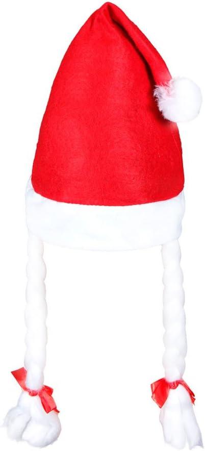 Alsino 6 St/ück Weihnachtsm/ützen f/ür Kinder mit Z/öpfen 08