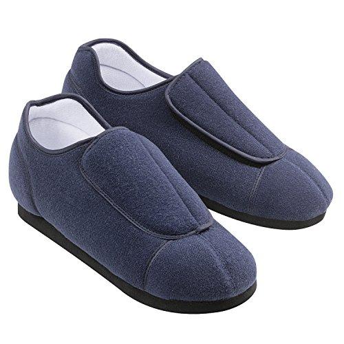 Dreams Slippers (Adjustable Comfortable Health Slippers, Ladies (8-9), Navy)