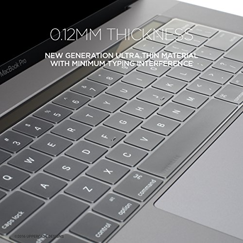 promo code 804fe a74a2 UPPERCASE GhostCover Premium Ultra Thin Keyboard Protector for MacBook Pro  with Touch Bar 13