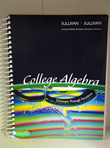 College Algebra Concepts through Functions