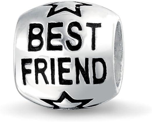 Friend Heart Best BFF Girlfriend Gift Word Dangle Charm for European Bracelets