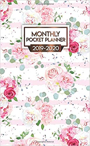 2019-2020 Monthly Pocket Planner: Nifty Red Roses Peonies ...