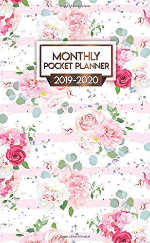 2019-2020 Monthly Pocket Planner: Nifty Red Roses Peonies Two-Year Monthly Pocket Planner with Phone Book, Password Log and Notebook. Cute Floral Calendar, Organizer and Agenda. (Best Small Tablets Of 2019)