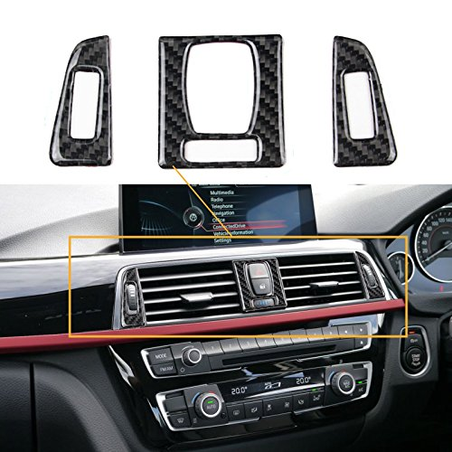 Car Air Vent Outlet Panel Interior Trim Carbon Fiber Sticker For BMW 3 4 Series F30 F32
