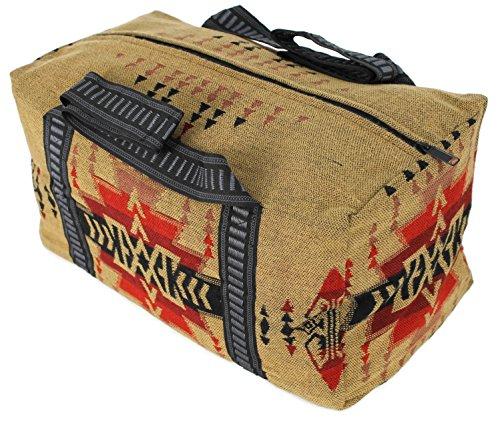 Splendid Exchange Travel Duffel Bag, 18 Inch, Tan and Red from Splendid Exchange
