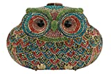 YILONGSHENG Owl Style Diamond Evening Handbags EB0716 Multicolor