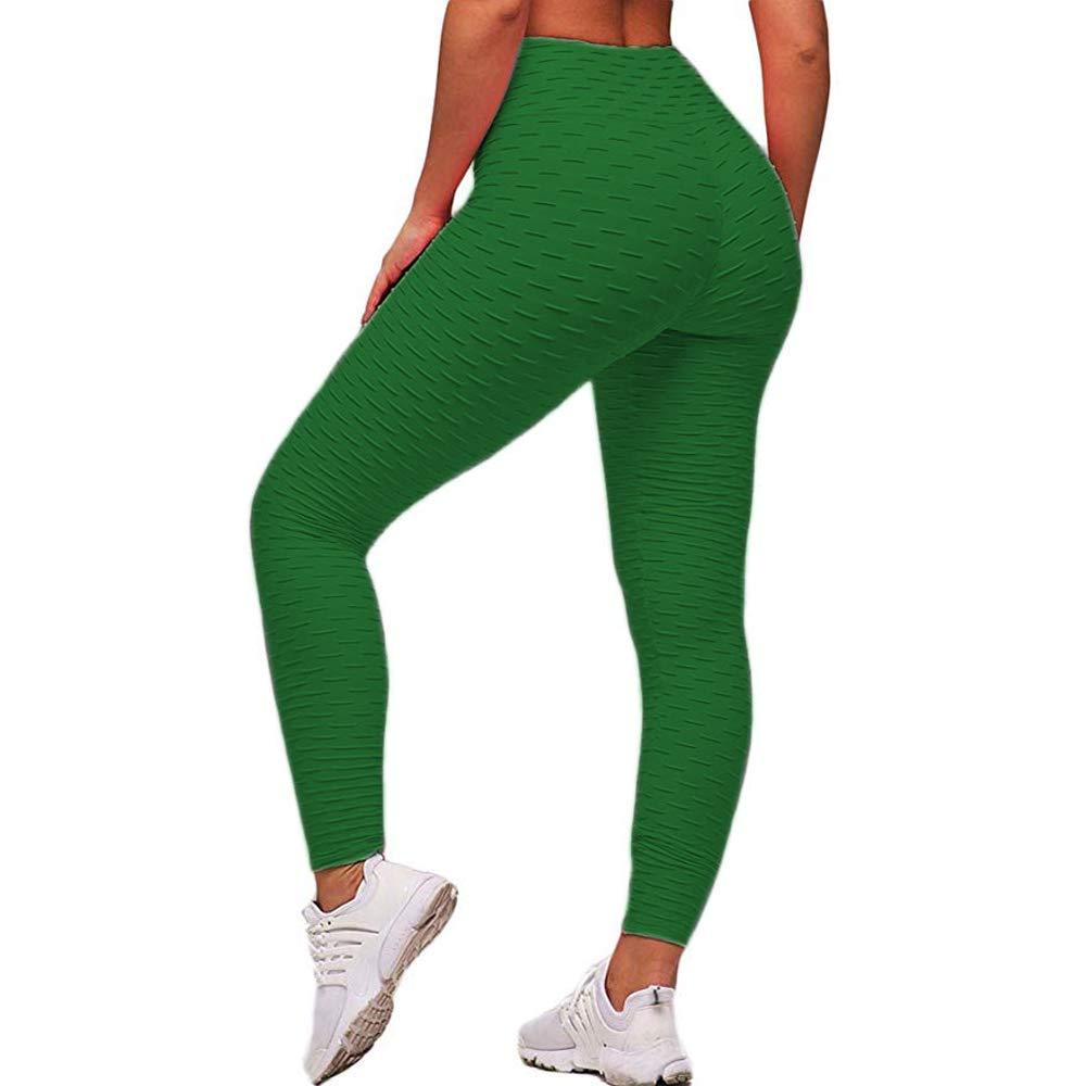 ae4e0de1c3 ASNUG High Waist Yoga Pants for Women Tummy Control Workout Ruched Butt  Lifting Stretchy Leggings