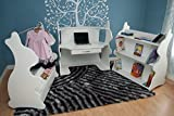 Ace Baby Furniture Rabbit Mobile Dress-Up Clothes and Shoe Organizer, White