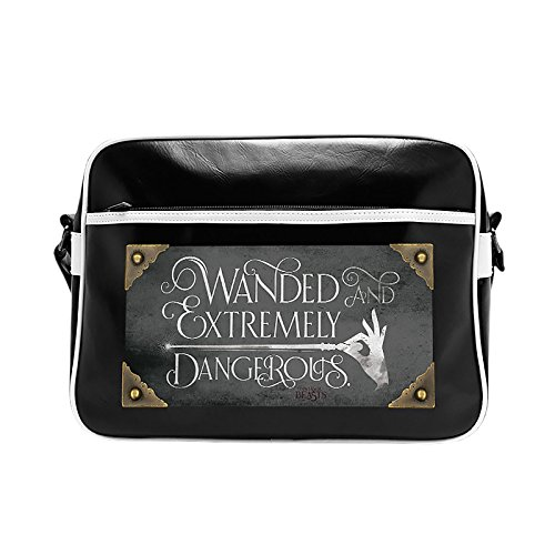 "Borsa Postino di ANIMALI FANTASTICI e Dove Trovarli ""WANDED AND EXTREMELY DANGEROUS"" Tracolla 38x29cm Ufficiale WARNER BROS Harry Potter"