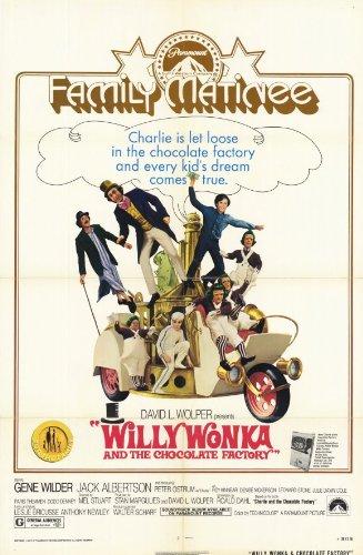 Willy Wonka y la fábrica de Chocolate 11 x cm 43,18 (28 x 44 ...