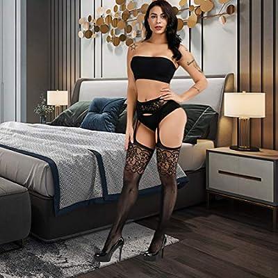 Valila High Waist Tights Fishnet Stockings Thigh High Stockings Pantyhose, 1103, S-XXL: Clothing