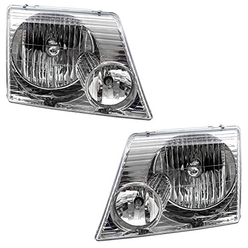 Driver and Passenger Headlights Headlamps Replacement for 02-05 Ford Explorer SUV 1L2Z13008AB 1L2Z13008AA