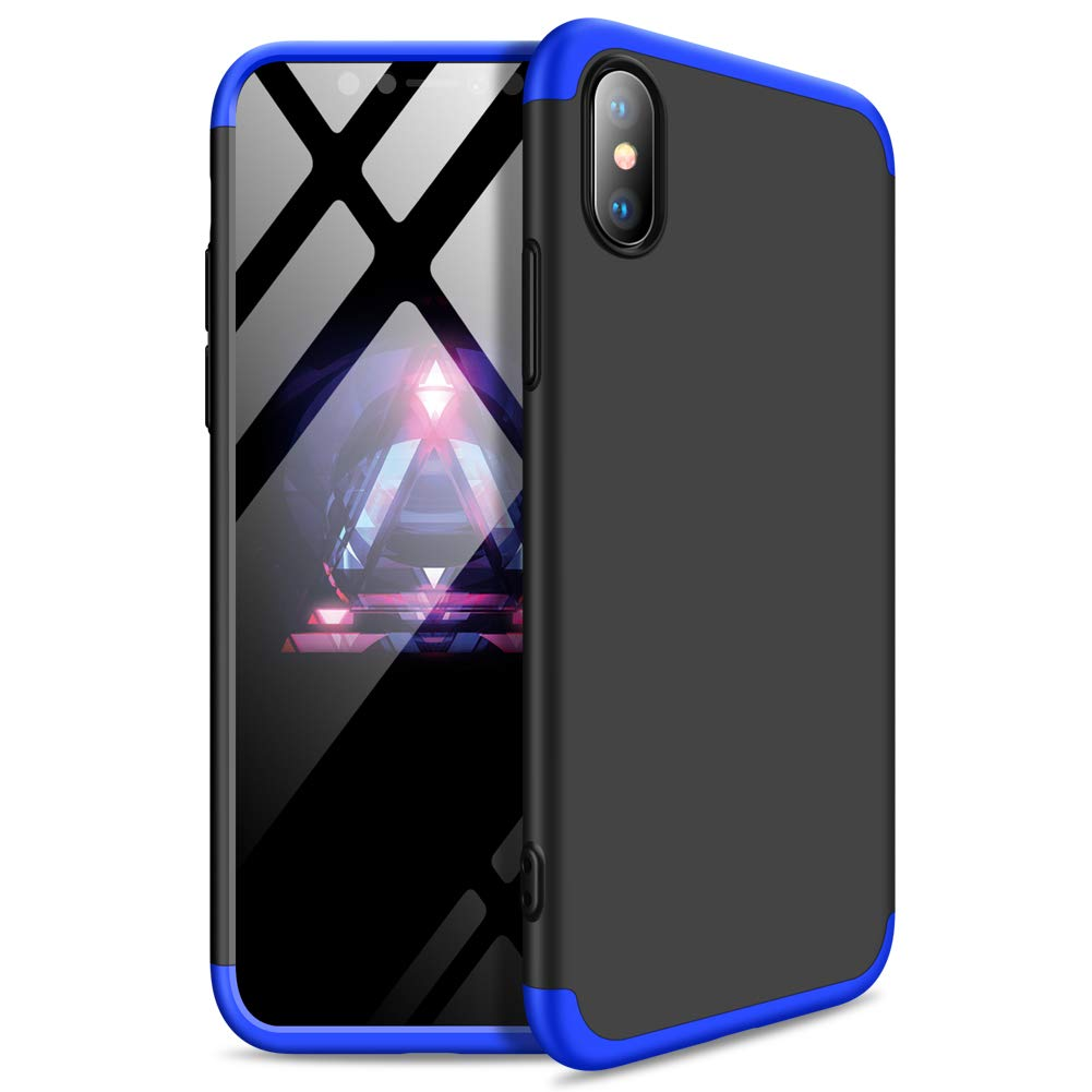 Yimer iPhone XS Hülle, iPhone XS Max Hülle,3 in 1 Ultra-Thin 360 Full Body Anti-Scratch Shockproof Hard PC Non-Slip Skin Smooth Back Cover Case for Apple iPhone XR Yimer iPhone XS Hülle iPhone XS Max Hülle