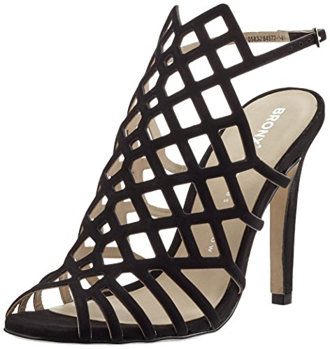 Black Bboavistax Open Toe Black Women's Bx Bronx 01 Heels 1208 qg0F0p