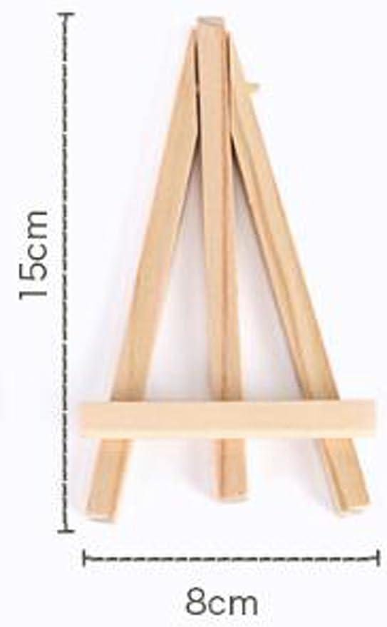 Tama/ño: 15x8 cm Istloho 10x Mini Caballete de visualizaci/ón de madera peque/ña madera caballete para boda foto men/ús cumplea/ños decoraci/ón mesa de fiesta