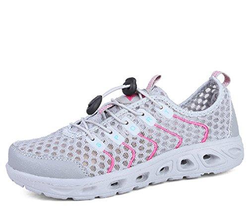 da corsa sportive Sneaker Novità corsa Scarpette piatte da donna piatte jogging traspirante tessuto leggere in Scarpe Gray in gomma Scarpe traspiranti da da 75wAxq4