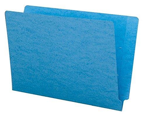Smead Colored End Tab File Folder, Shelf-Master? Reinforced Straight-Cut Tab, Legal Size, Blue, 100 per Box (28010) by Smead