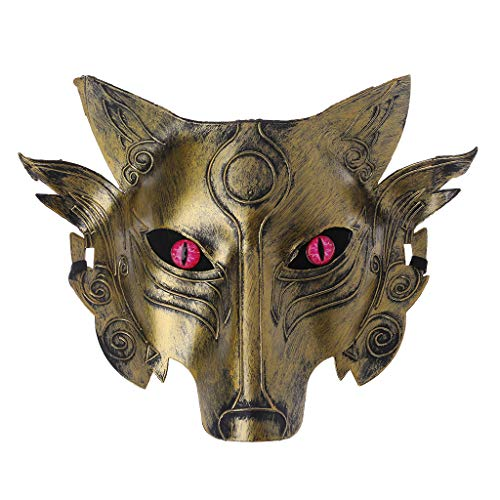EA-STONE Halloween Masks For Adults Wolf,Werewolf Wolf Mask Masquerade Cosplay Props Movie Theme Halloween Party Supplies (3#)