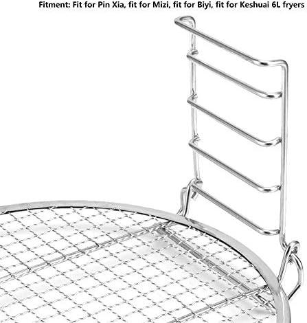 BYARSS Acier inoxydable 5 couches superposable Gril rack Accessoires Fit for 8QT Fryer
