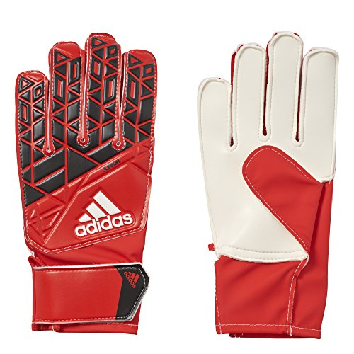 adidas Performance Ace Junior Goalie Gloves, Red/Core Black/White, Size (Juniors Size Chart)