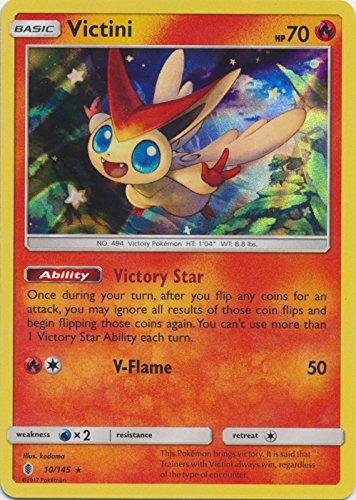 Victini - 10/145 - Holo Rare - Sun & Moon: Guardians Rising