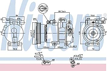 Nissens 890232 Compresor para Aire Acondicionado: Amazon.es: Coche y moto