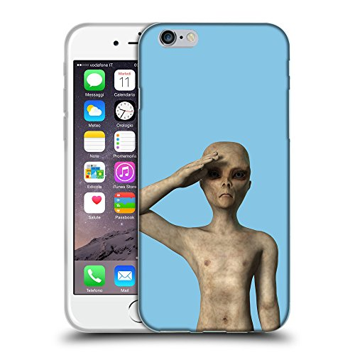 GoGoMobile Coque de Protection TPU Silicone Case pour // Q05500609 UFO extraterrestre Bambina blu // Apple iPhone 6 PLUS 5.5""