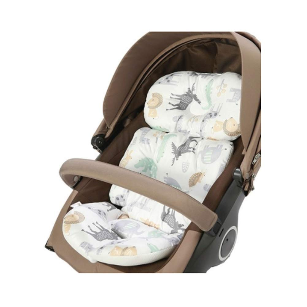 Infant Support 4-Seasons Reversible 100% Cotton Breathable Air-Mesh Baby Seat Liner Stroller, Car Seat, Jogger, Bouncer
