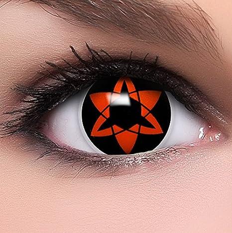 d36ec61627 FUNZERA®[Sharingan] Lentillas de Colores Eternal Mangekyou + recipiente  para lentes de contacto
