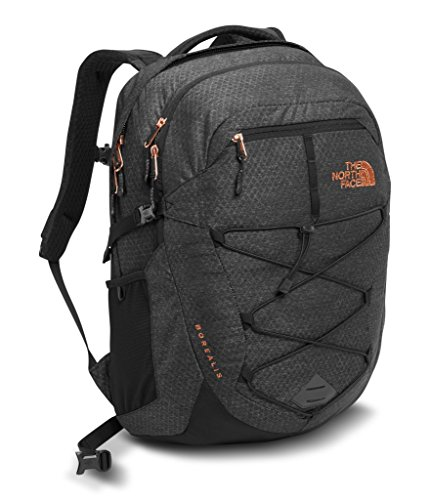 The North Face Women's Borealis Backpack - TNF Black Heather & Burnt Coral Metallic - OS (Past Season)
