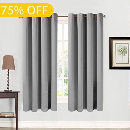 TOP RATED BLACKOUT 2 PANELS GROMMETS CURTAIN! 99% BLACKOUT!