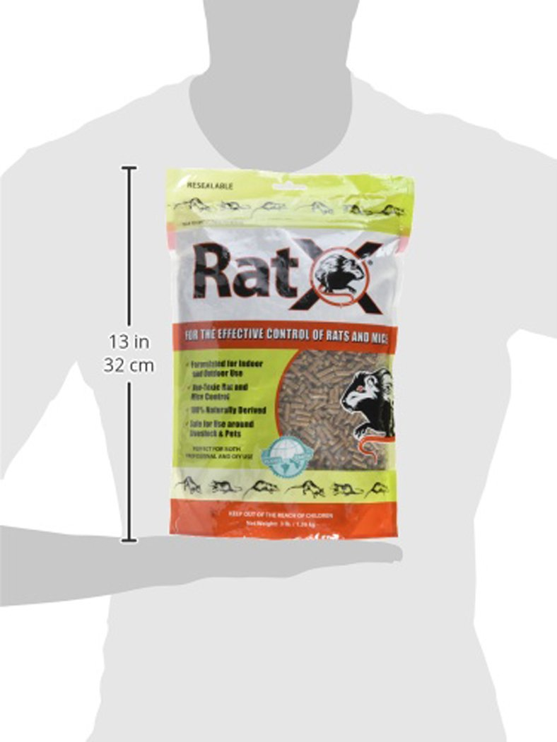 EcoClear Products RatX 620102, Humane All-Natural Non-Toxic Rat and Mouse Killer Pellets, 3 lb. Bag by EcoClear Products, Inc.