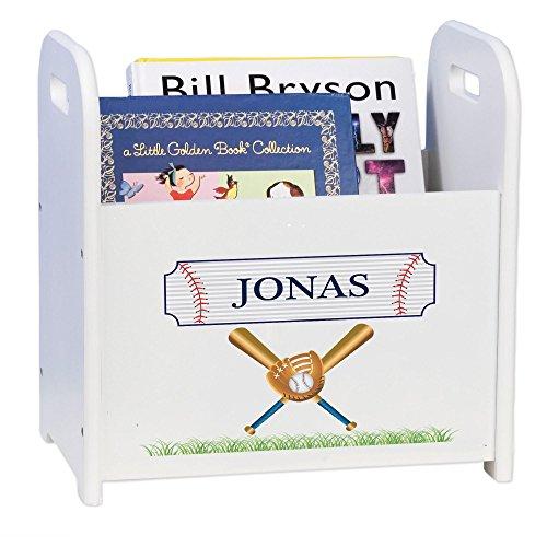 ed Baseball Book Caddy and Rack (Personalized Adult Wood Baseball Bat)
