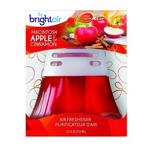 bright air scented oil air freshener and diffuser macintosh apples and cinnamon scent 25 ounces best air freshener for office