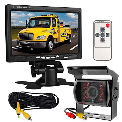 12 V-24 V 17,8 cm auto TFT LCD-scherm HD-monitor + bus vrachtwagen aanhanger 18 leds IR-nachtzicht waterdichte…
