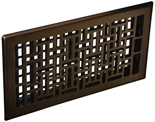 Decor Grates AJH612-RB Oriental Floor Register, 6-Inch by 12-Inch, Rubbed (Bronze Oriental Register)
