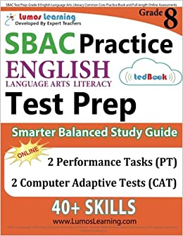 Sbac Test Prep Grade 8 English Language Arts Literacy Ela Common