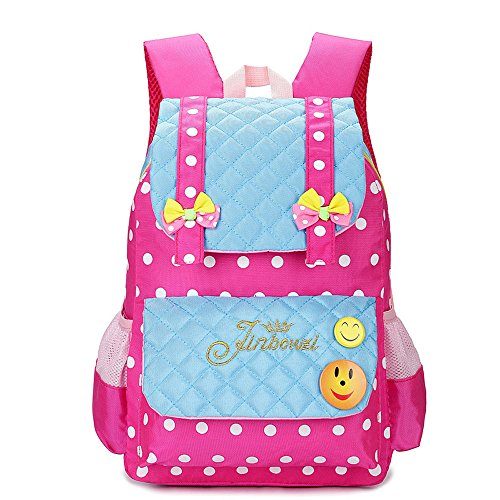 Check Out This Kidstree Girl's School Backpack Polka Dot Bow-knot Bookbag Light Blue